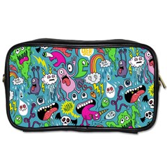Monster Party Pattern Toiletries Bags by BangZart