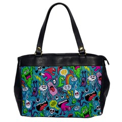 Monster Party Pattern Office Handbags by BangZart