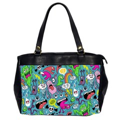 Monster Party Pattern Office Handbags (2 Sides)  by BangZart