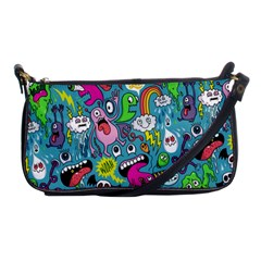 Monster Party Pattern Shoulder Clutch Bags