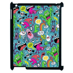 Monster Party Pattern Apple Ipad 2 Case (black) by BangZart