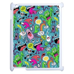 Monster Party Pattern Apple Ipad 2 Case (white) by BangZart