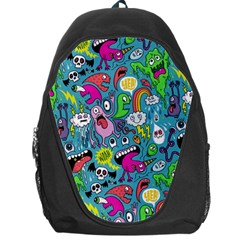 Monster Party Pattern Backpack Bag by BangZart