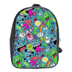 Monster Party Pattern School Bags (xl)  by BangZart