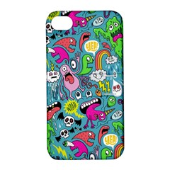 Monster Party Pattern Apple Iphone 4/4s Hardshell Case With Stand by BangZart