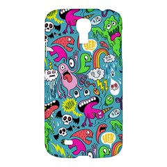 Monster Party Pattern Samsung Galaxy S4 I9500/i9505 Hardshell Case by BangZart