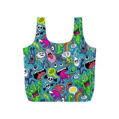 Monster Party Pattern Full Print Recycle Bags (s)  by BangZart