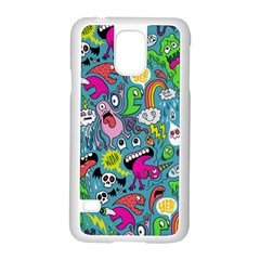 Monster Party Pattern Samsung Galaxy S5 Case (white) by BangZart