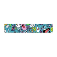 Monster Party Pattern Flano Scarf (mini)