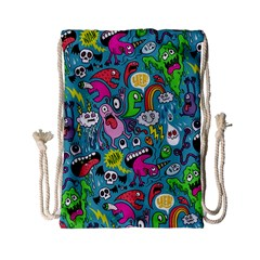 Monster Party Pattern Drawstring Bag (small) by BangZart