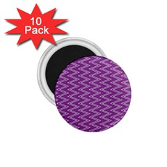 Zig Zag Background Purple 1 75  Magnets (10 Pack)  by BangZart