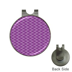 Zig Zag Background Purple Hat Clips With Golf Markers by BangZart