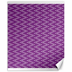Zig Zag Background Purple Canvas 16  X 20
