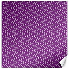Zig Zag Background Purple Canvas 20  X 20