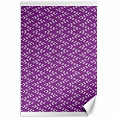 Zig Zag Background Purple Canvas 24  X 36