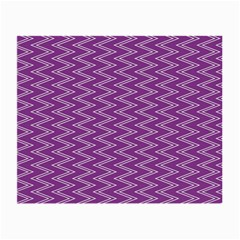 Zig Zag Background Purple Small Glasses Cloth (2 Side) by BangZart