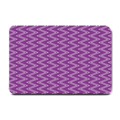 Zig Zag Background Purple Small Doormat