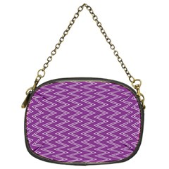 Zig Zag Background Purple Chain Purses (one Side)  by BangZart