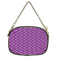 Zig Zag Background Purple Chain Purses (two Sides)  by BangZart