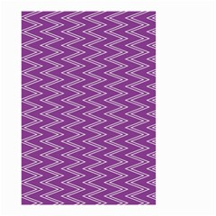 Zig Zag Background Purple Small Garden Flag (two Sides) by BangZart