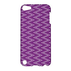 Zig Zag Background Purple Apple Ipod Touch 5 Hardshell Case