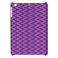 Zig Zag Background Purple Apple Ipad Mini Hardshell Case by BangZart