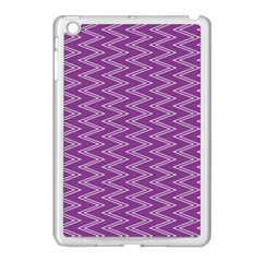Zig Zag Background Purple Apple Ipad Mini Case (white)