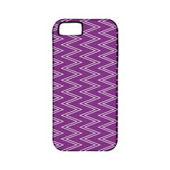 Zig Zag Background Purple Apple Iphone 5 Classic Hardshell Case (pc+silicone) by BangZart