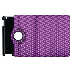 Zig Zag Background Purple Apple Ipad 2 Flip 360 Case by BangZart