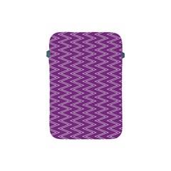 Zig Zag Background Purple Apple Ipad Mini Protective Soft Cases by BangZart