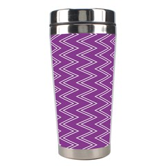 Zig Zag Background Purple Stainless Steel Travel Tumblers by BangZart