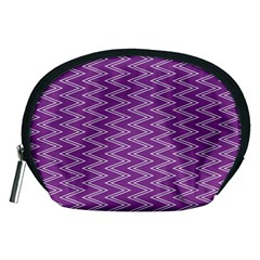 Zig Zag Background Purple Accessory Pouches (medium)