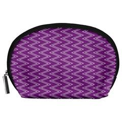 Zig Zag Background Purple Accessory Pouches (large)