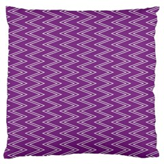 Zig Zag Background Purple Large Flano Cushion Case (one Side) by BangZart