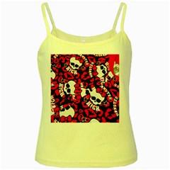 Mattel Monster Pattern Yellow Spaghetti Tank