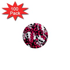 Mattel Monster Pattern 1  Mini Magnets (100 Pack)  by BangZart
