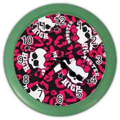 Mattel Monster Pattern Color Wall Clocks by BangZart