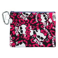 Mattel Monster Pattern Canvas Cosmetic Bag (xxl) by BangZart