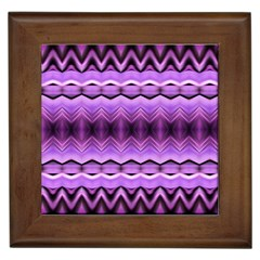 Purple Pink Zig Zag Pattern Framed Tiles