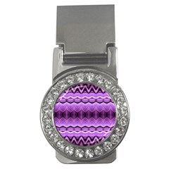 Purple Pink Zig Zag Pattern Money Clips (cz)  by BangZart