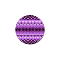 Purple Pink Zig Zag Pattern Golf Ball Marker (4 Pack) by BangZart