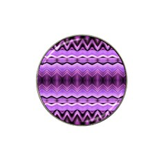 Purple Pink Zig Zag Pattern Hat Clip Ball Marker (4 Pack) by BangZart