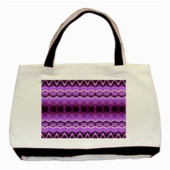 Purple Pink Zig Zag Pattern Basic Tote Bag by BangZart
