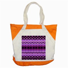 Purple Pink Zig Zag Pattern Accent Tote Bag by BangZart