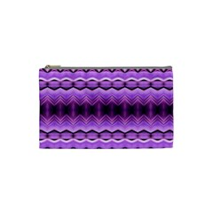 Purple Pink Zig Zag Pattern Cosmetic Bag (small)  by BangZart
