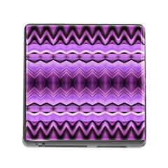 Purple Pink Zig Zag Pattern Memory Card Reader (square)