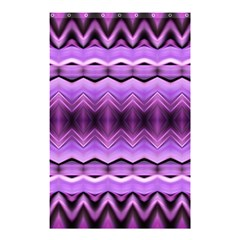 Purple Pink Zig Zag Pattern Shower Curtain 48  X 72  (small)