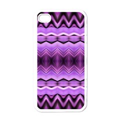 Purple Pink Zig Zag Pattern Apple Iphone 4 Case (white) by BangZart
