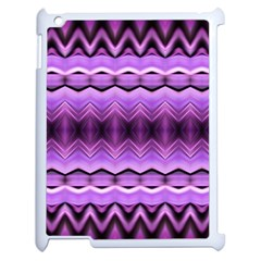 Purple Pink Zig Zag Pattern Apple Ipad 2 Case (white)