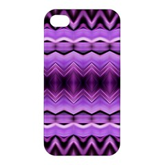 Purple Pink Zig Zag Pattern Apple Iphone 4/4s Hardshell Case